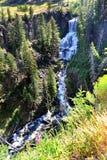 Cascade près de l'entrée du sud Images libres de droits
