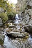 Cascade of Purgatory. Guadarrama chain. Spain Royalty Free Stock Images