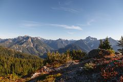 Cascade Range Viewpoint royalty free stock photography