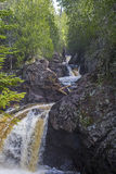 Cascade river, ancient rock Stock Photo
