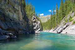 Cascade river, banff national park Stock Photography