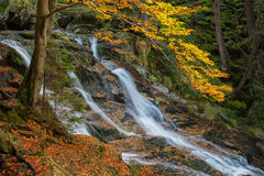 Cascade on the River. Cascade on the Bavarian River. Austria Royalty Free Stock Photo