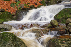 Cascade on the river in Bohemia Stock Photo