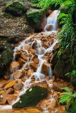 Cascade on the river. CascadCascade on the river in the Czech Stock Photography
