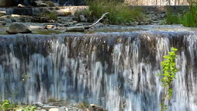Cascade. River with cascade in the mountains stock footage