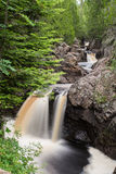 Cascade River Waterfall. This is a waterfall at Cascade River State Park in Minnesota Stock Images