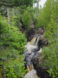 Cascade River Waterfall 2. This is a waterfall at Cascade River State Park in Minnesota Royalty Free Stock Photos
