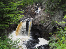 Cascade River Waterfall 2. This is a waterfall at Cascade River State Park in Minnesota Royalty Free Stock Photo