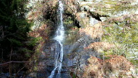 Cascade. Small cascade flowing on rocks stock video