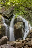 Cascade in South Mountains. A cascade along a stream in the South Mountains of North Carolina Royalty Free Stock Image