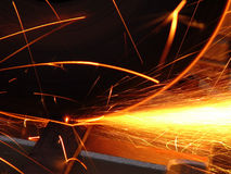 Cascade of sparks Royalty Free Stock Photo