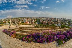 Cascade Staircase in Yerevan. Cascade Staircase on a Hill in Erevan, the capital of Armenia Stock Images