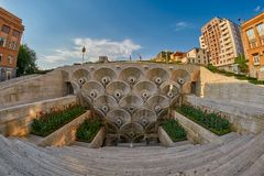 Cascade Staircase in Yerevan. Cascade Staircase on a Hill in Erevan, the capital of Armenia Stock Image