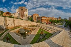 Cascade Staircase in Yerevan. Cascade Staircase on a Hill in Erevan, the capital of Armenia Royalty Free Stock Image