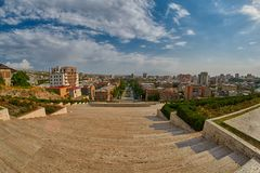 Cascade Staircase in Yerevan. Cascade Staircase on a Hill in Erevan, the capital of Armenia Stock Photo