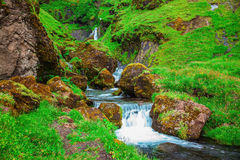 The  cascade step falls Stock Images