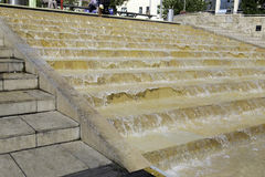 Cascade steps, Bristol harbour, England Royalty Free Stock Image