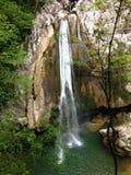 Cascade stupéfiante d'Agura à Sotchi Photo libre de droits