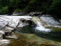 Cascade sur la rivière de Latorita Photo libre de droits