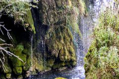 Cascade sur la rivière Una images libres de droits