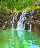 Cascade Vacoas waterfall. Mauritius Stock Photo