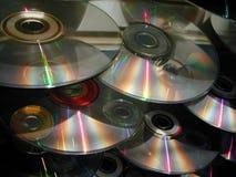 Cascade van CDs Royalty-vrije Stock Fotografie