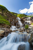 Cascade water fall in Glacier National Park Royalty Free Stock Photography