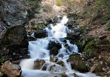 Cascade of water falling from a height, Shar mountain Royalty Free Stock Image