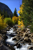 Cascade water falls. Scenic Cascade water falls in Colorado Rocky mountains Royalty Free Stock Photography