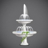 Cascade Water Fountain Realistic Transparent Royalty Free Stock Images