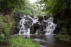 Cascade Waterfall. The Cascades waterfall at Virginia Waters in Surrey, England Stock Photo