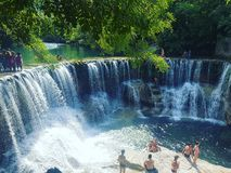 Cascade - waterfall. A beautifull place in South of France Stock Photo