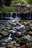 Cascade waterfall. Cascading waterfalls in the beautiful nature stock photography