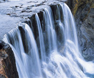 Cascade waterfall elevated view Royalty Free Stock Image