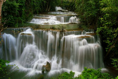 The cascade of waterfall. In Kanchanaburi Province, Thailand Royalty Free Stock Image