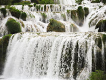 Cascade of waterfall in Kornati region, Dalmatia Royalty Free Stock Image