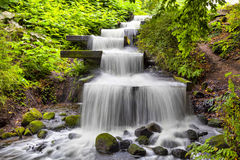 Cascade waterfall in Planten un Blomen park in Hamburg Stock Image