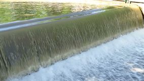 Cascade waterfall on the river stock footage