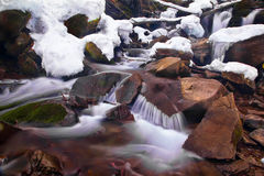 Cascade. Of the waterfall in winter Stock Photo
