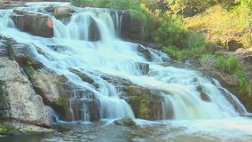 Cascade waterfall in the woods, timelapse, national park, nature. Stock footage stock video