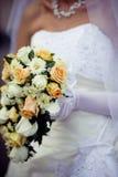 Cascade wedding bouquet Stock Photography