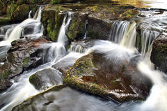 Cascade/Weir Eller Beck River, near Cow Wath Bank, Goathland Stock Images