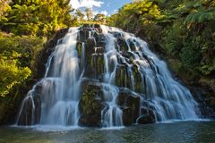Cascade waterfall near town of Waihi, New Zealand. Cascade wide waterfall near town of Waihi, North Island of New Zealand royalty free stock photos