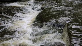 Cascade on Wolf Creek. Letchworth State Park, New York stock footage
