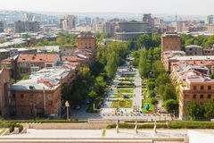 The Cascade in Yerevan. The museum open-air the Cascade in Yerevan Stock Image