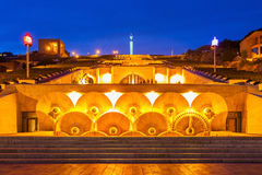 The Cascade, Yerevan. The Cascade at night. It is a giant stairway in Yerevan, Armenia royalty free stock photos