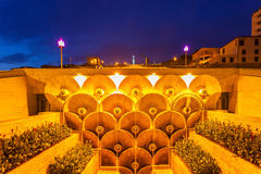 The Cascade, Yerevan. The Cascade at night. It is a giant stairway in Yerevan, Armenia Royalty Free Stock Image