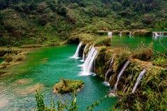 Cascade Yunnan, porcelaine de Jiulong Image stock
