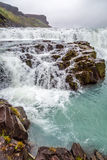 Cascaded Gullfoss waterfall, Iceland Stock Photos