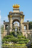 Cascadefontein in Ciutadella-park, Barcelona, Spanje stock fotografie